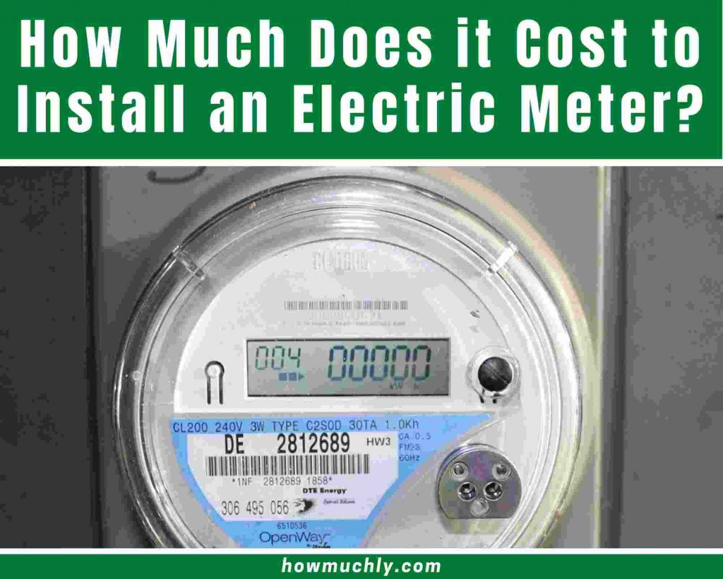 How much does it cost to install an electric meter