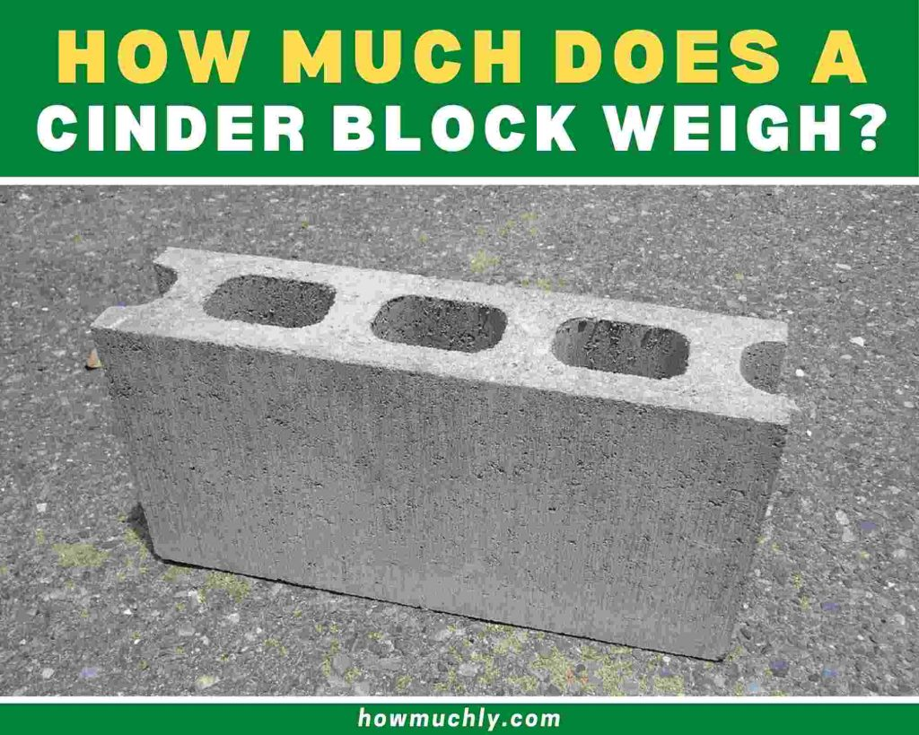 how much does a cinder block weigh