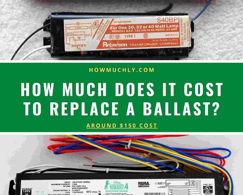 how much does it cost to replace a ballast