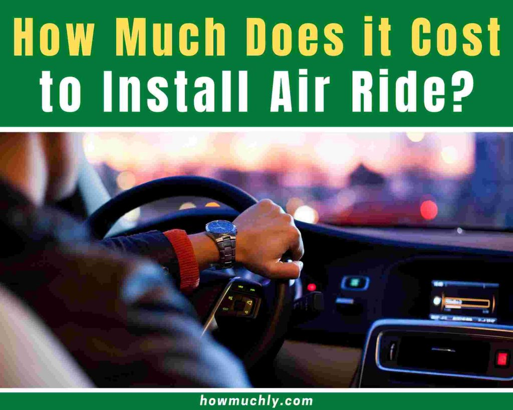 how much does it cost to install air ride