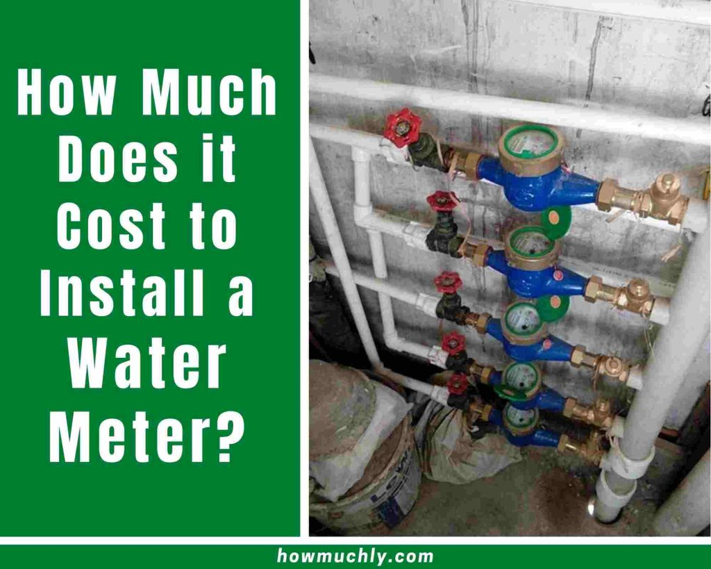 how much does it cost to install a water meter